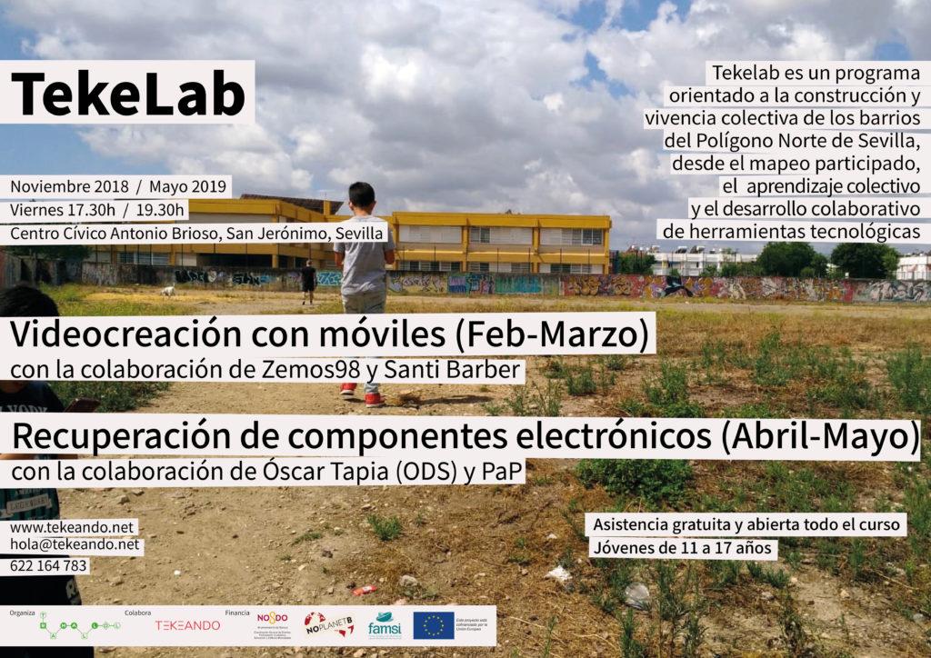 Nuevo ciclo de talleres TekeLab en San Jerónimo