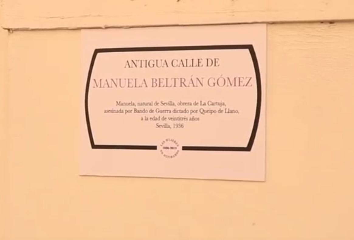 Antigua calle de Manuela Beltrán Gómez